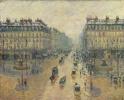Оперный проезд в Париже. Эффект снега. Утро