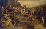 Франс Франкен Младший. Въезд Давида в Иерусалим. 1630-е