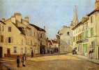 Alfred Sisley. The Rue de La Chaussee at Argenteuil
