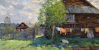 May in the village. D. V. P., oil 32 x 63, 5 cm 2014
