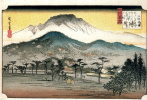 Утагава Хиросигэ. Вечерний звон колоколов в храме Мии