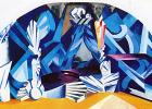 """Александра Александровна Экстер. Комната Джульеты. Эскиз декорации к спектаклю """"Ромео и Джульетта"""" У. Шекспира. Московский Камерный театр"""