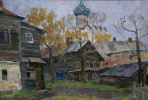 Boris Petrovich Zakharov. Autumn in Rostov the Great. Etude.