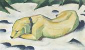Франц Марк. Собака на снегу