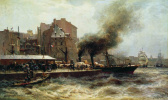 Александр Карлович Беггров. Гавр. Вход в порт во время прилива. 1876