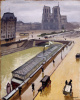 Rainy day in Paris. Notre Dame Cathedral