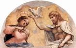 Антонио Корреджо. Фрески церкви Сан Джованни Евангелиста в Парме, люнет в апсиде, сцена: Коронование Марии, фрагмент