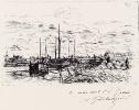 Парусные лодки на реке под Берси