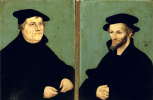 Lucas Cranes the Elder. Portrait of Martin Luther and Philipp Melanchthon