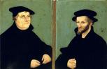 Лукас Кранах Старший. Портрет Мартина Лютера и Филиппа Меланхтона