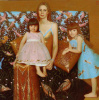 Portrait of mother with children. 2006