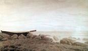 Каспар Давид Фридрих. Лодка на берегу при восходе луны