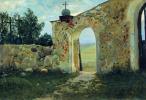 Станислав Юлианович Жуковский. Вход на кладбище. Монастырская стена