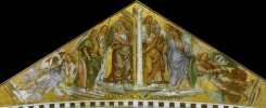 Fra Beato Angelico. The Saints. Fragment of the fresco of the chapel of the Madonna di San Brisio