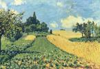 Alfred Sisley. Wheat fields near Argentea