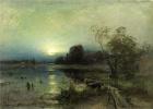 Юлий Юльевич Клевер. Вечерний пейзаж с лодкой