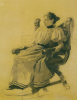Portrait of an unknown woman sitting in the chair
