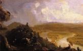 Томас Коул. Вид с горы Хольок после грозы