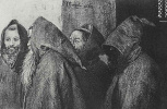 Adolf Friedrich Erdmann von Menzel. Four monks