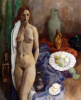 Still life with standing Nude