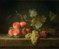 Натюрморт с персиками и виноградом