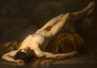 Жак-Луи Давид. Лежащий обнаженный. Эскиз для изображения тела Гектора