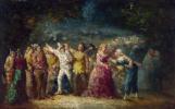 Адольф Монтичелли. Факельное шествие