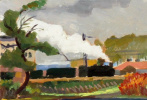 Пейзаж с поездом