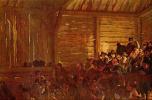Адольф фон Менцель. Крестьянский театр в Тироле