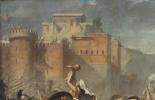Жак-Луи Давид. Сабинянки, останавливающие битву между римлянами и сабинянами. Фрагмент III