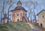 Boris Petrovich Zakharov. Spring in Kirillov. Etude.