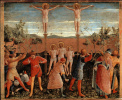 Crucifixion and stoning of saints Cosmas and Damian. The altar of the monastery of San Marco. Limit 6