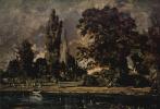 Джон Констебл. Вид с реки на собор в Солсбери, эскиз