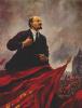 V. I. Lenin on the podium