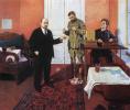 V. I. Lenin at the direct line