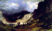 Альберт Бирштадт. Гроза в скалистых горах