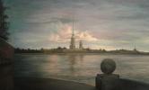 Koroleva Tatyana. Sunset on the Neva river