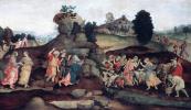 Филиппино Липпи. Моисей приносит воду из скалы