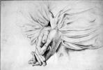 Arthur Hughes. Praying hands