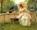 Трогательный момент в саду