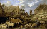 Давид Тенирс Младший. Пейзаж с пастухом и стадом