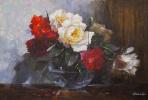 Савелий Камский. Букет красных и белых роз