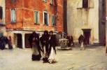 Джон Сингер Сарджент. Выходя из церкови Кампо-Сан-Кансиано. Венеция