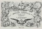 """Adolf Friedrich Erdmann von Menzel. Series """"Living the artist's way"""", the Frontispiece with the title in a magnificent frame"""