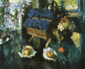 Flowers and fruits on the piano