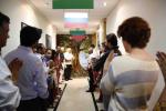"""Презентация мозаичного пано """"Дерево жизни"""" в Фонде Социальных Инициатив в г. Мумбаи в Индии"""