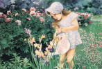 Мэри Окифф. Маленькая девочка в саду