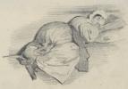 Жан Иньяс Изидор (Жерар) Гранвиль. Спящая женщина