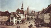 Вид Пирны, рыночная площадь в Пирне