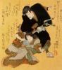 Актеры кабуки Итикава Данзюро VII и Иваи Кумесабуро